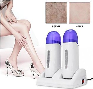Double-sided Depilatory Roll Hot Wax Heater Electric Hair Removal Machine Blue