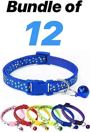 Pack of 12 Cat collar with Bell