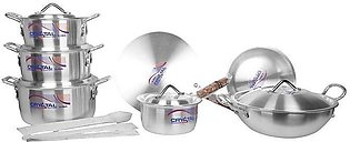 Stainless Steel Metal Finish Crystal Cooking Gift Pack Set 15 pieces 3 Cooking …