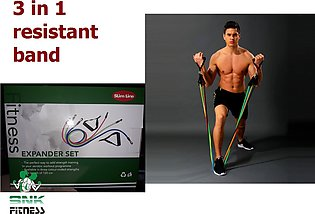 High Quality Slim line Power Resistance Exercise Band 3 in 1