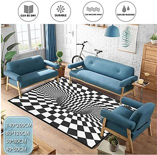 40*60cm 3D Print Square Carpet Minimalist Anti-Skid Rug Living Bedroom Room F...