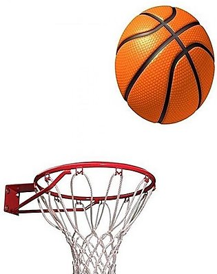Gold star Basket Ball With Net and Ring - Standard Size