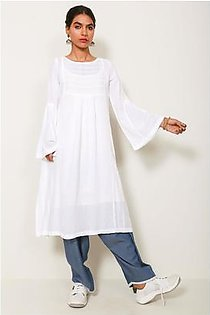 Generation-Summer-Sweet Spring kurta-Crinkled lawn-Contemporary-W19239T-White