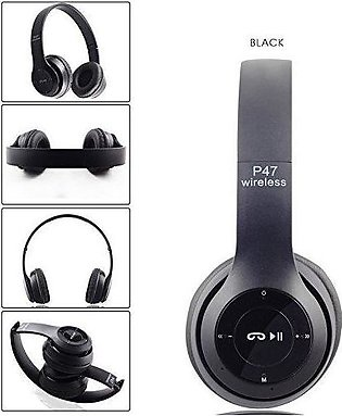 P47 Wireless Bluetooth Headphones Latest 4.2+EDR with Mic Supports FM Radio /...