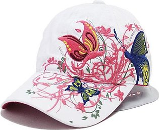 Hats For Women Sun hat Ladies hat Butterfly Embroidery Summer Lady Baseball Hat…