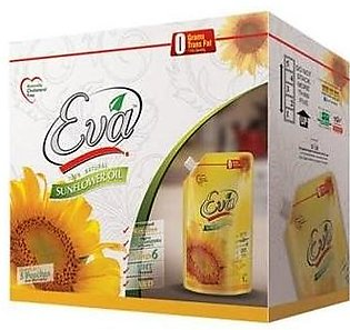Eva Sunflower Cooking Oil Standup Pouch 1Ltr x 5