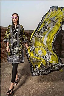 """GA - GA - Gul Ahmed-Summer Collection 2019 Black Silk Collection-3 PC Unstitched-SS-183 -196019"""""""