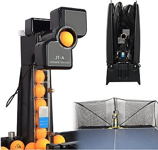 Table Tennis Robot Automatic Ping-pong Ball Machine Practice Recycle w/ 100 ball