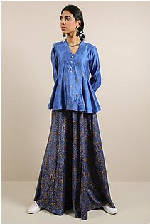 Generation-Pre Fall Collection Valley Of Kings Skirt 2-Pc Cotton Satin Contemporary-B29400T-Blue