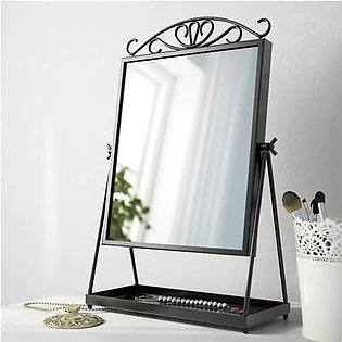 IKEA KARMSUND TABLE MIRROR, BLACK, 27X43CM