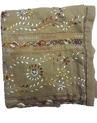 HANDEMADE EMBRODED SHAWL FOR LADIES (GIFT FOR SUMMER SEASON)PISTA COLOUR