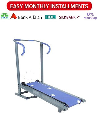 Manual Treadmill - Running Machine with 19 Rollers