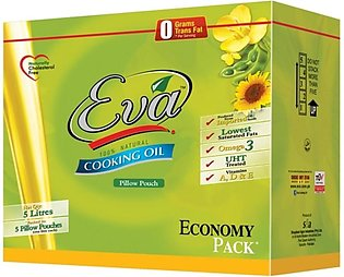 Eva Sunflower Canola Oil - Pack of 5 (One day delivery in Sahiwal)