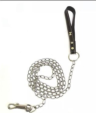 Leather Strap Chain Leash For Dogs/ Cat 6 ft