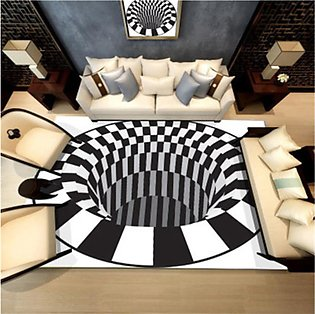 3D Soft Carpets Luxury Rug Optical Illusion Anti-slip Bathroom Room Floor Mat...