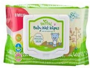 Herbal Baby Wipes With Cap 85 Pcs