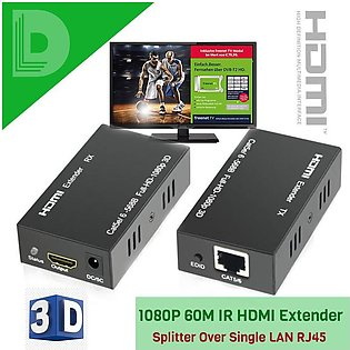 High Quality Best Proformance 1080P 60M IR HDMI Extender FULL HD Over Single ...