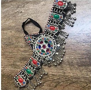 Afghani stunning shinning matha patti full branded jewellery