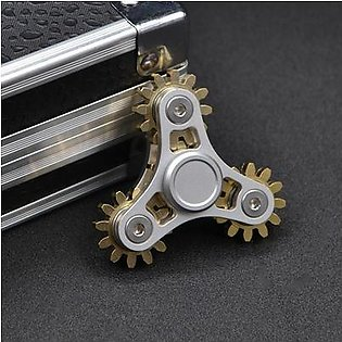 4 Wheel Gears Electric Saw Metal Fidget Hand Spinners Toys with ceramics Bearings