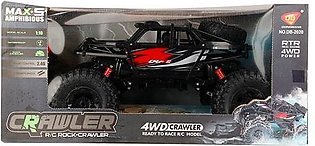 RC ROCK CRAWLER AMPHIBIOUS 4WD 2.4GHz SCALE 1:10 WATERPROOF RED AND BLACK
