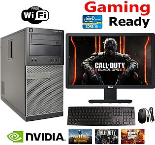 790 Tower Gaming PC Core i5 8GB RAM 500GB Hard 19 Inch wide Screen LED free Key…