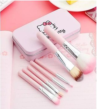 Pack of 7 Makeup Brushes – Pink Color