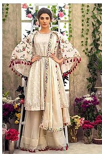 """GA - GUL Ahmed-Eid Collection 2019 Off White Embroided -3PC Unstitched-FE-184-203507"""""""
