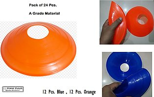 24 Pack-Football Training Cones Hockey road safety goal keeper disk space marki…