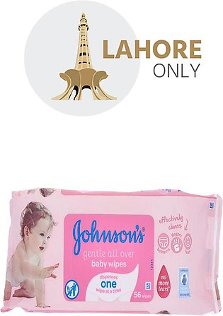 Johnsons Baby Wipes 56 Wipes