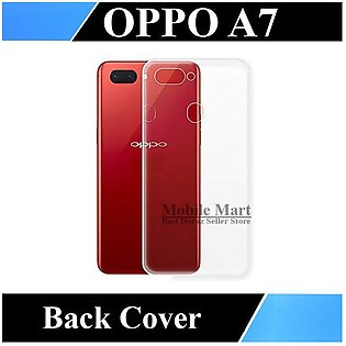 Oppo A7 Transparent Back Cover Clear Crystal Cover For A7