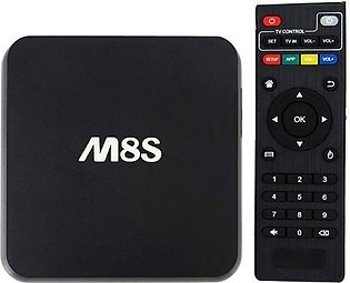 M8S - Android Smart TV Box - Quadcore - 8GB - Black