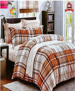 New Cotton Softy Foam Bedsheets With 2 Pillow Covers Scb-17 (R K)