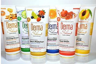 Azy Shop Derma Shine Facial Kit - Pack of 6 Tubes (200gm Each Tube)