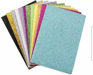 Glitter Fomic Sheet Sticker Best Quietly Pack of 10 Multicolour