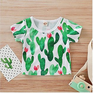 ✫Good Quality✫ Newborn Baby Kids Boy Girl Number Cartoon Short Sleeve T-shirt T…