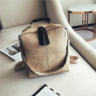 Pu Leather Soft Noodle Popular Candy Color Girl Backpack Korean Popular Women B…