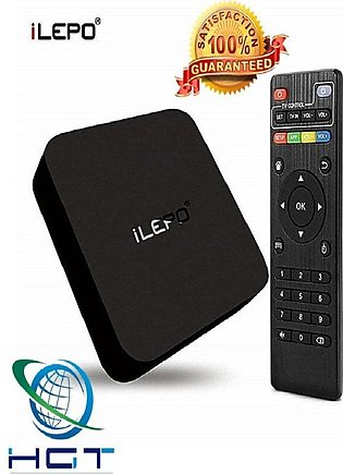 HGT Smart Android Tv Box – Ilepo-4K  Ram 1Gb Rom 8Gb  Black (M)