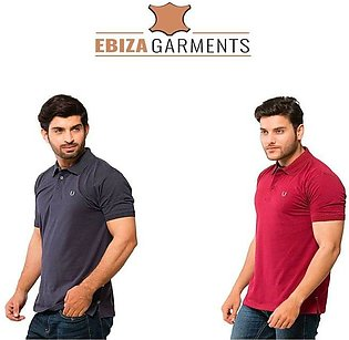Pack of 2 – High Quality Plain Polo Shirt