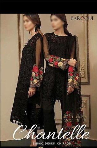 Chiffon Embroidered Suit For Women - 3 Piece