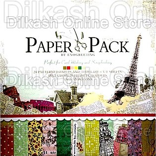 Scrapbook Paper Craft Pattern 12×12 Inches – Pattern Paper Pack – PS004