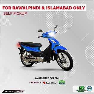 Power Scooty 70cc Blue (Islamabad & Rawalpindi Only) 12-15 working days