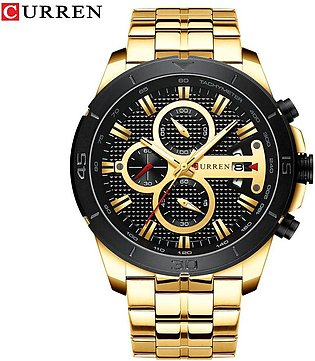 New Luxury Brand CURREN Quartz Watches Sporty Men Wristwatch with Stainless S...