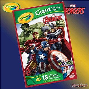 Crayola Marvel Avengers 18 Giant Colouring Pages Posters Sheets