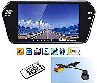 7  Mirror Screen with Bluetooth & Back View Camera