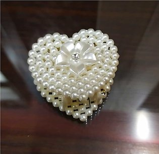 Pearl Heart Style Hair Claws Simple Fashion Girl Women Catcher Hair Clips Acces…