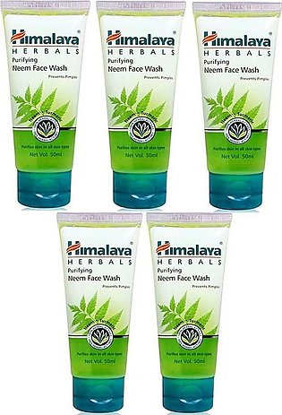 Pack Of 5 Himalaya Purifying Neem Face Wash Prevents Pimples - 50ml