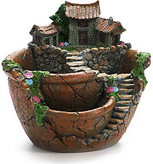 Flowers Succulent Plants Mini Fairy Garden with Sweet House for Decoration