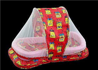 New Tub Shape Baby Bed With Mosquito Net In Organic Soft Cotton