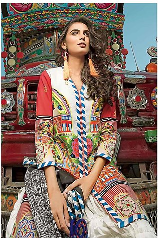 """""""GUL Ahmed-Summer Collection 2019  Red Lawn-2 PC Unstitched-TL-167 -195606"""""""