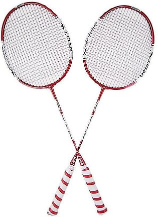 726 - Pack of 2 - Badminton Rackets - White & Red